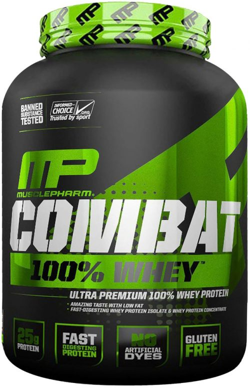 MusclePharm Combat 100% Whey - 5lbs Cappuccino