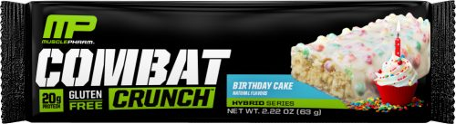 MusclePharm Combat Crunch Bars - 1 Bar Birthday Cake