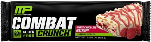 MusclePharm Combat Crunch Bars - 1 Bar White Chocolate Raspberry