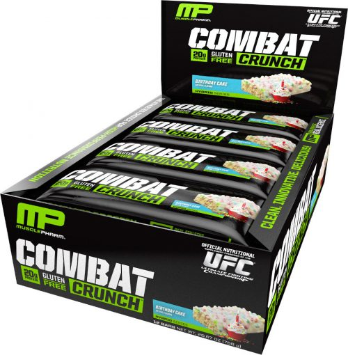 MusclePharm Combat Crunch Bars - Box of 12 Birthday Cake