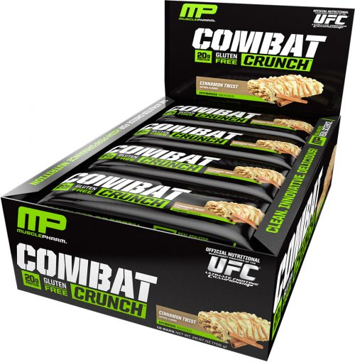 MusclePharm Combat Crunch Bars - Box of 12 Cinnamon Twist