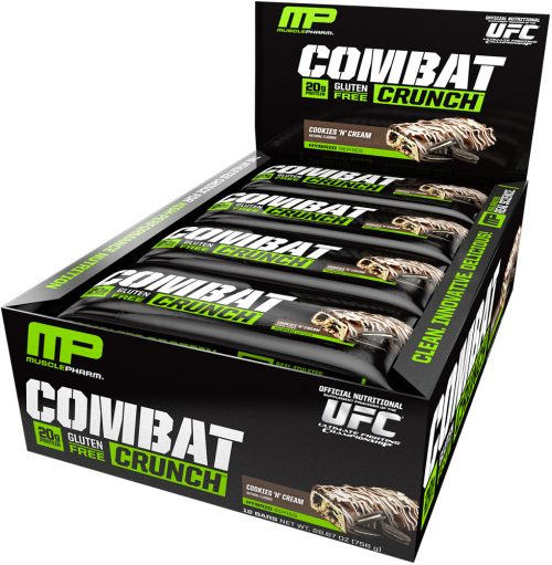 MusclePharm Combat Crunch Bars - Box of 12 Cookies 'N Cream