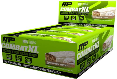 MusclePharm Combat XL Bars - 1 Bar Cinnamon Twist