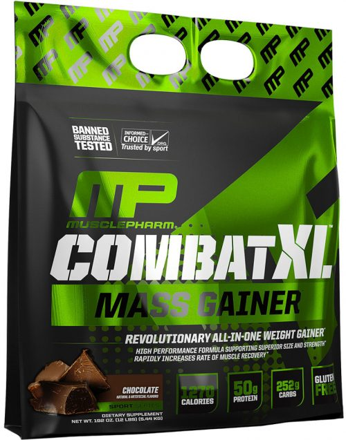 MusclePharm Combat XL Mass Gainer - 12lbs Chocolate