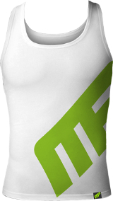 MusclePharm Sportswear MP Logo Tank - XXL White
