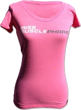 MusclePharm Sportswear Miss MusclePharm Scoop T - Large Pink