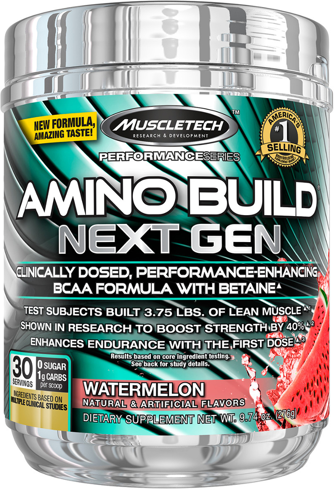 MuscleTech Amino Build Next Gen - 30 Servings Watermelon