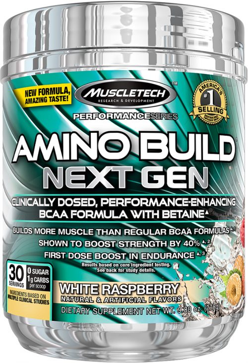 MuscleTech Amino Build Next Gen - 30 Servings White Raspberry