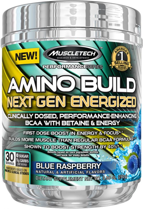 MuscleTech Amino Build Next Gen Energized - 30 Servings Blue Raspberry