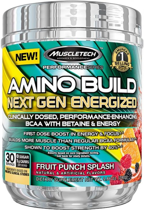 MuscleTech Amino Build Next Gen Energized - 30 Servings Fruit Punch