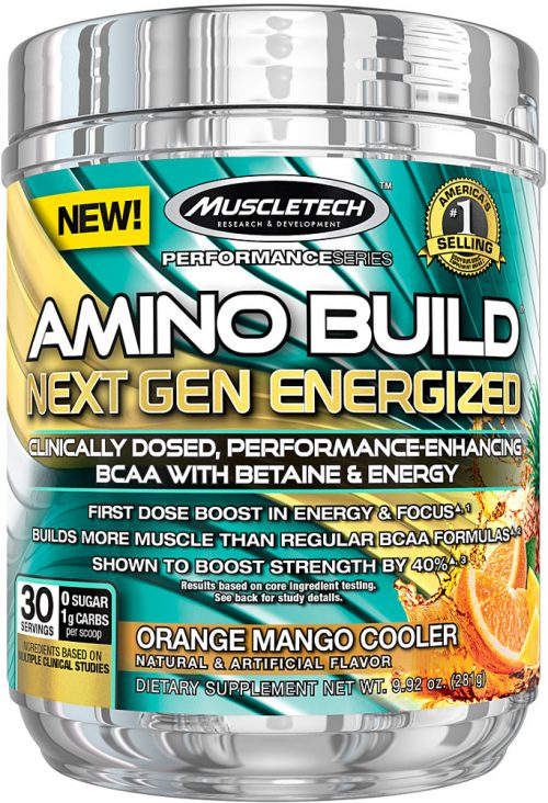 MuscleTech Amino Build Next Gen Energized - 30 Servings Orange Mango C