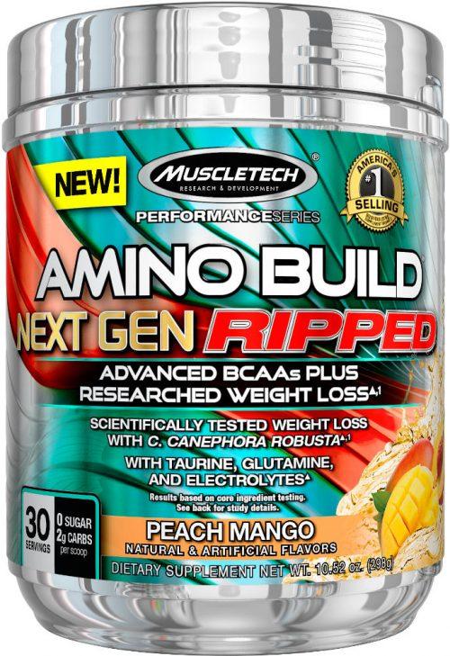 MuscleTech Amino Build Next Gen Ripped - 30 Servings Peach Mango