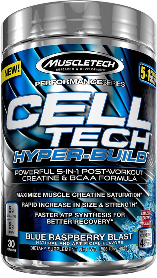 MuscleTech Cell-Tech Hyper-Build - 30 Servings Blue Raspberry