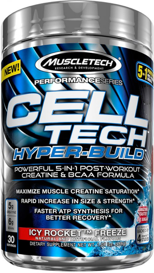 MuscleTech Cell-Tech Hyper-Build - 30 Servings Icy Rocket Freeze