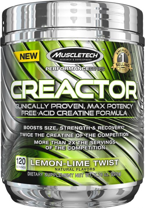MuscleTech Creactor - 120 Servings Lemon Lime