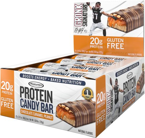 MuscleTech Gronk Signature Protein Candy Bar - Box of 12 Chocolate Car