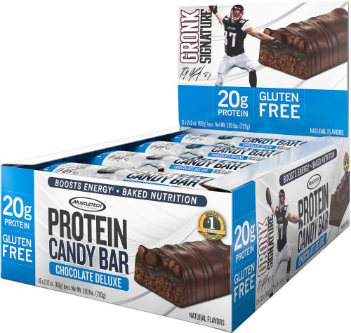 MuscleTech Gronk Signature Protein Candy Bar - Box of 12 Chocolate Del
