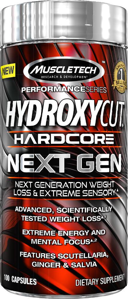 MuscleTech Hydroxycut Hardcore Next Gen Yohimbe Free - 100 Capsules