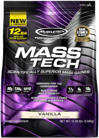 MuscleTech Mass-Tech - 12lbs Vanilla