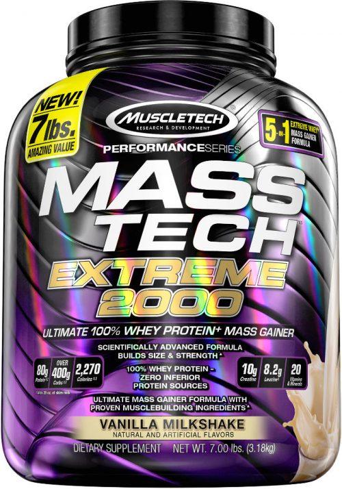 MuscleTech Mass-Tech Extreme 2000 - 7lbs Vanilla Milkshake