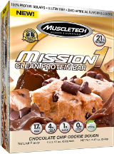 MuscleTech Mission1 Bars - Box of 4 Cookie Dough