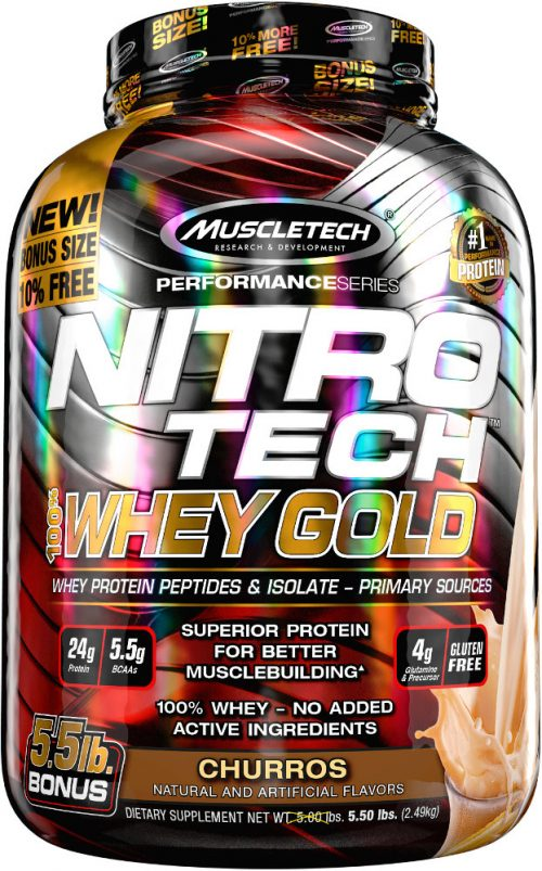 MuscleTech Nitro-Tech 100% Whey Gold - 5.5lbs Churro