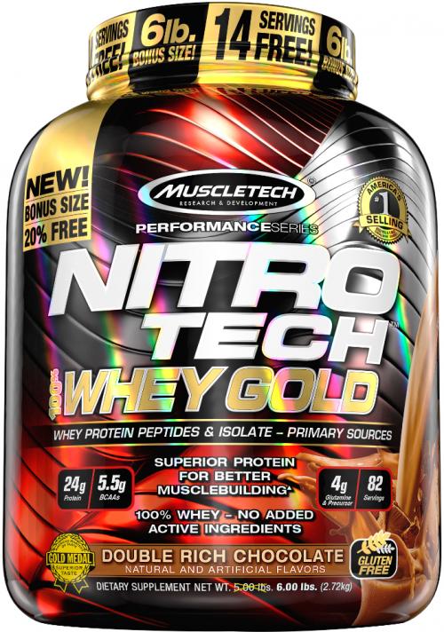 MuscleTech Nitro-Tech 100% Whey Gold - 5.5lbs Mint Chocolate Chip Sund