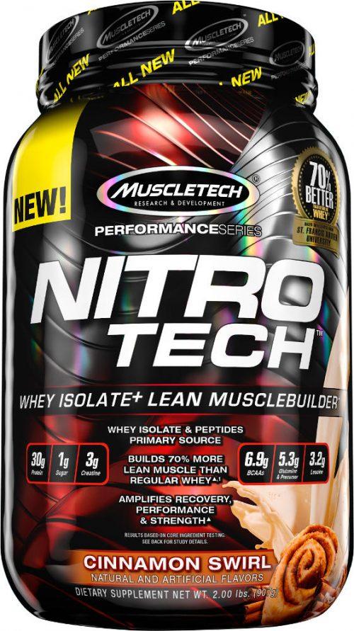 MuscleTech Nitro-Tech - 2lbs Cinnamon Swirl