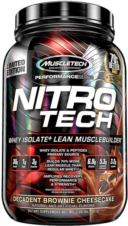 MuscleTech Nitro-Tech - 2lbs Decadent Brownie Cheesecake