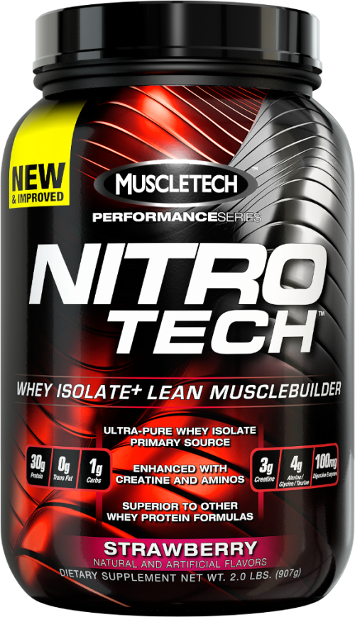 MuscleTech Nitro-Tech - 2lbs Strawberry