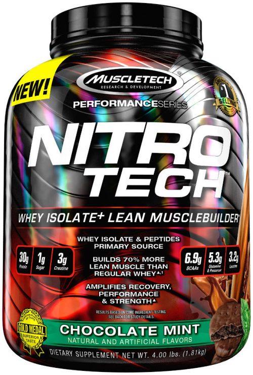MuscleTech Nitro-Tech - 4lbs Chocolate Mint