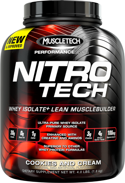 MuscleTech Nitro-Tech - 4lbs Cookies and Cream