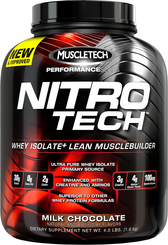 MuscleTech Nitro-Tech - 4lbs Milk Chocolate