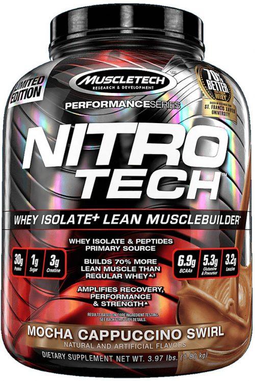 MuscleTech Nitro-Tech - 4lbs Mocha Cappuccino Swirl