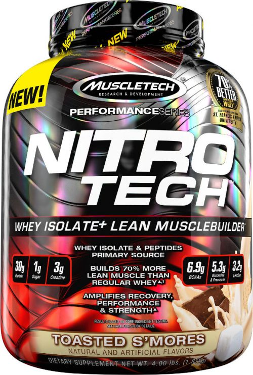 MuscleTech Nitro-Tech - 4lbs Toasted S'mores
