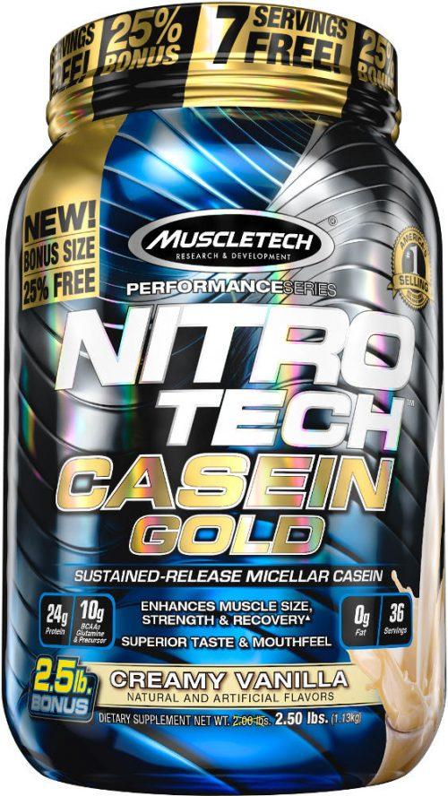 MuscleTech Nitro-Tech Casein Gold - 2.5lbs Creamy Vanilla