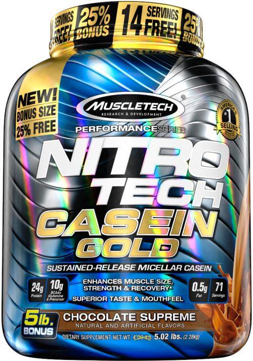 MuscleTech Nitro-Tech Casein Gold - 5lbs Chocolate Supreme