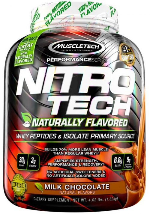 MuscleTech Nitro-Tech Natural - 4lbs Naturally Flavored Milk Chocolate