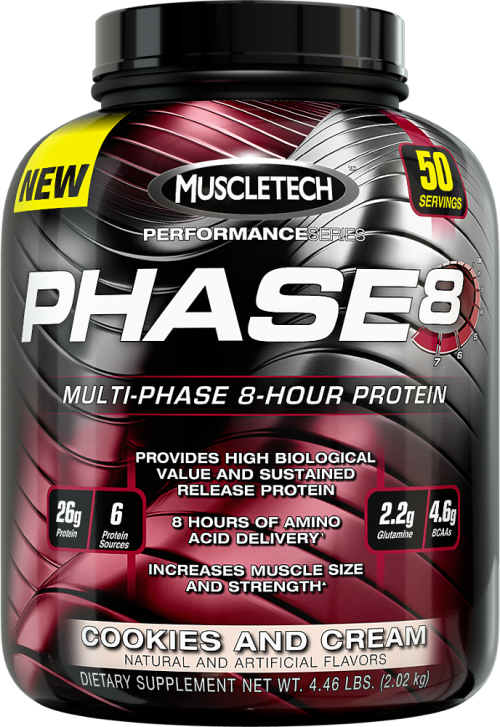 MuscleTech Phase8 - 4.4lbs Cookies and Cream