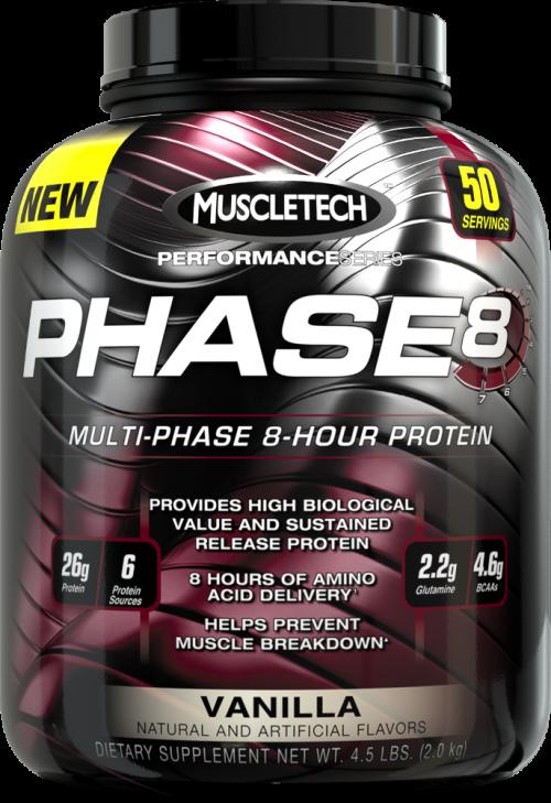MuscleTech Phase8 - 4.4lbs Vanilla