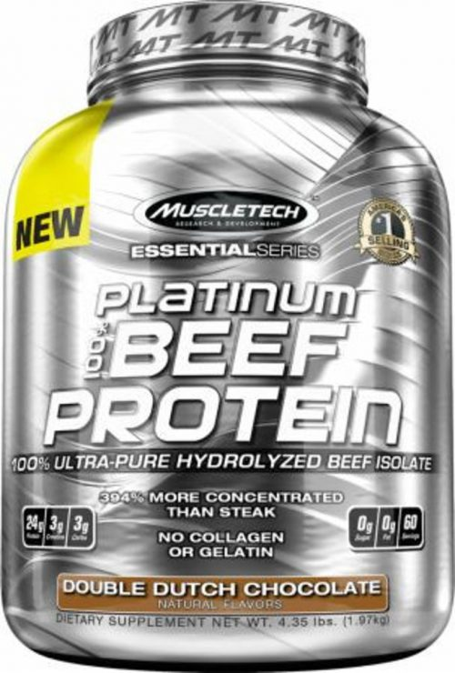 MuscleTech Platinum 100% Beef Protein - 3lbs Double Dutch Chocolate -