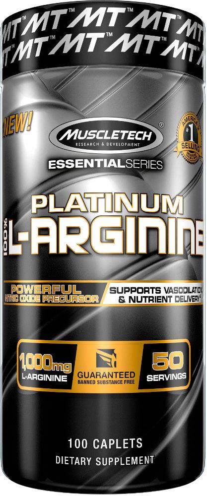 MuscleTech Platinum 100% L-Arginine - 100 Capsules