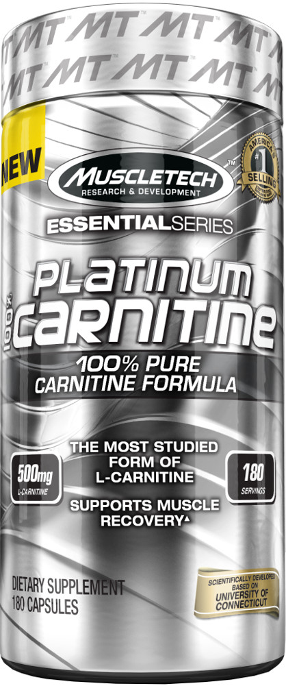 MuscleTech Platinum 100% L-Carnitine - 180 Capsules