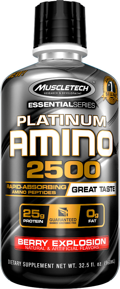MuscleTech Platinum Amino 2500 - 12 Servings Berry Explosion