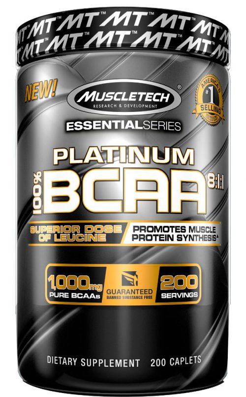 MuscleTech Platinum BCAA 8:1:1 - 200 Caplets