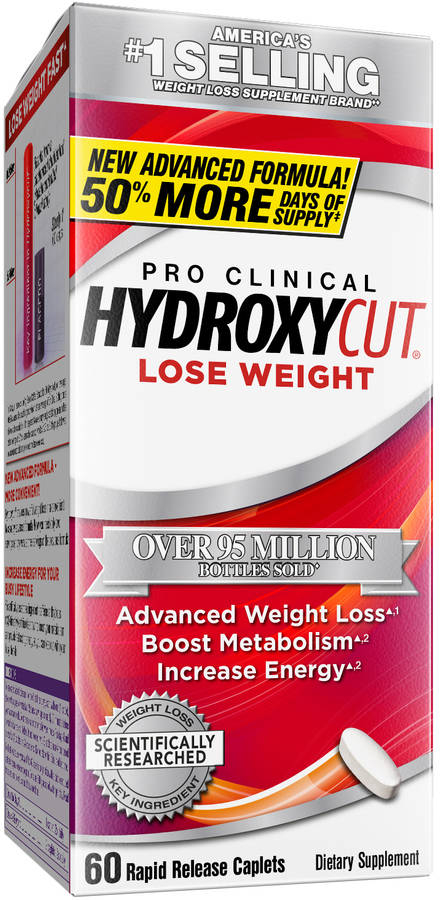 MuscleTech Pro Clinical Hydroxycut - 60 Rapid Release Caplets
