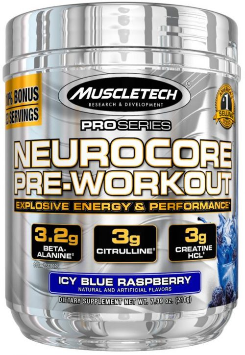 MuscleTech Pro Series NeuroCore - 33 Servings Icy Blue Raspberry