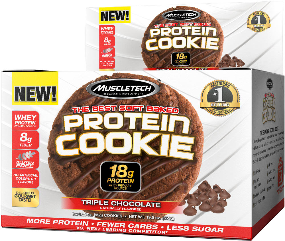 MuscleTech Protein Cookie - 6 Cookies Triple Chocolate