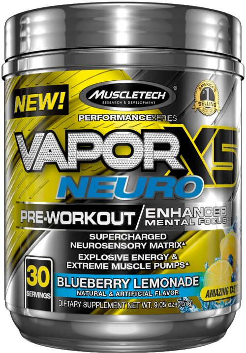 MuscleTech Vapor X5 Neuro - 30 Servings Blueberry Lemonade