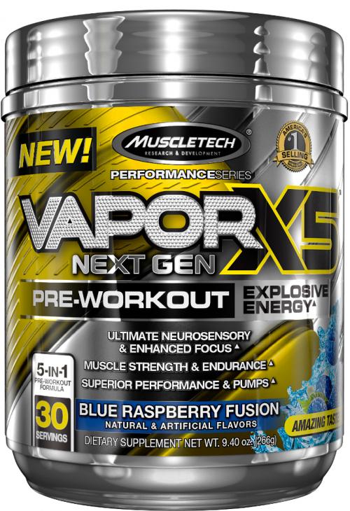 MuscleTech Vapor X5 Next Gen - 30 Servings Blue Raspberry Fusion